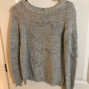 LC Lauren Conrad Light Gray Sweater